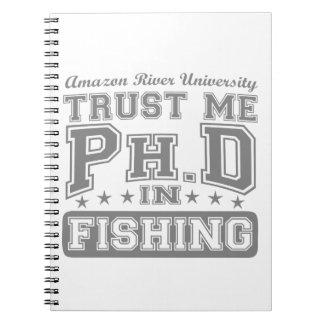 Confíeme en Ph D en la pesca Libros De Apuntes