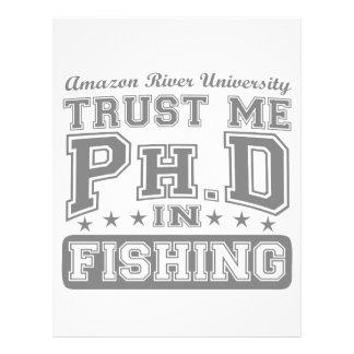 Confíeme en Ph D en la pesca Membrete Personalizado