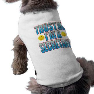 Confíeme en secretaria vida B Playera Sin Mangas Para Perro