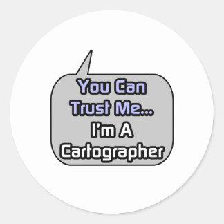 Confíeme en Soy cartógrafo Etiquetas Redondas