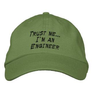 Confíeme en… Soy ingeniero Gorra De Béisbol Bordada