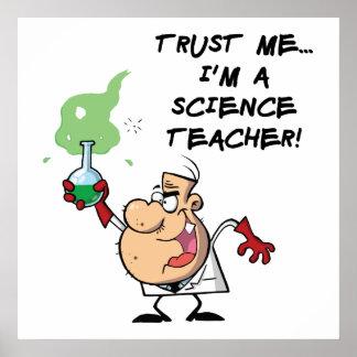 Confíeme en… Soy profesor de ciencias Póster
