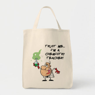 Confíeme en… Soy profesor de la química Bolsa Tela Para La Compra