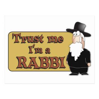 Confíeme en - soy RABINO - gran humor judío Tarjetas Postales