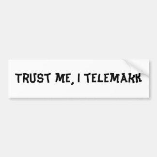 Confíeme en, telemark de I Pegatina De Parachoque