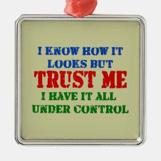 Confíeme en - todo bajo control ornamentos de navidad