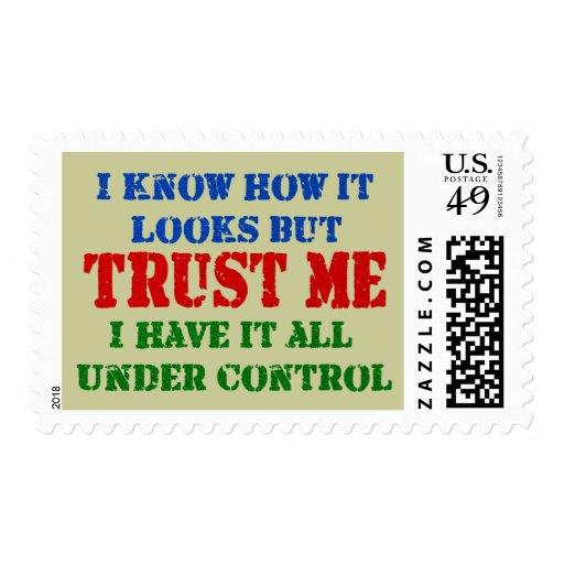 Confíeme en - todo bajo control envio