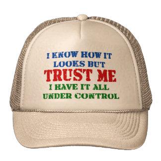 Confíeme en - todo bajo control gorro de camionero