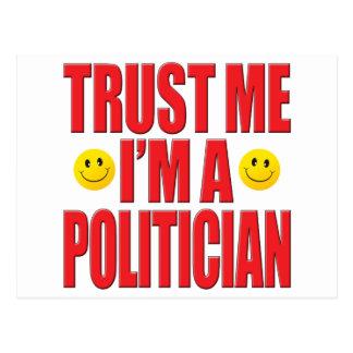 Confíeme en vida del político tarjetas postales