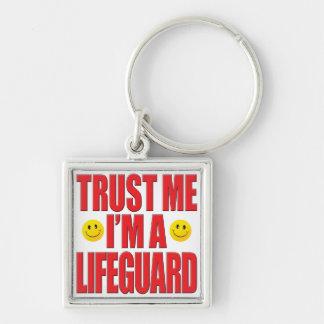 Confíeme en vida del salvavidas llaveros personalizados