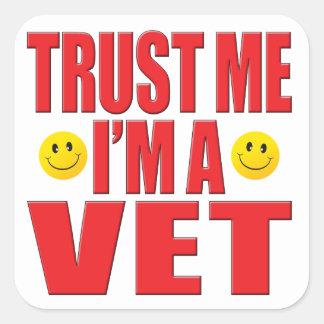 Confíeme en vida del veterinario pegatinas cuadradases