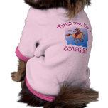 Confíeme en, yo son camisetas de una vaquera, taza camisetas de mascota