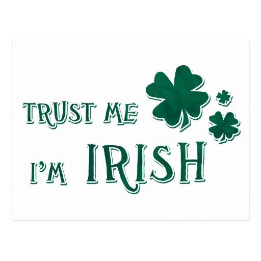 Confíeme en, yo son irlandés postal