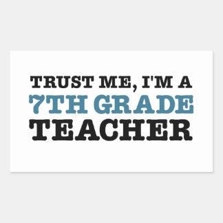 Confíeme en, yo son profesor del grado de A Pegatina Rectangular