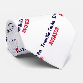Confíeme en, yo son un aviador corbata personalizada