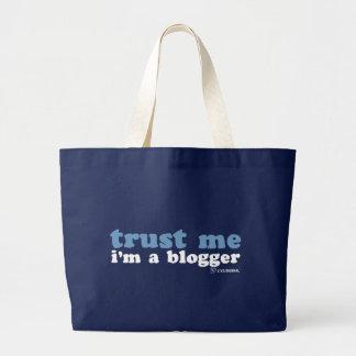 Confíeme en, yo son un Blogger (LiveJournal) Bolsa Tela Grande