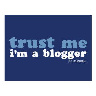 Confíeme en, yo son un Blogger (LiveJournal) Tarjeta Postal