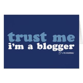Confíeme en yo son un Blogger LiveJournal Tarjeton