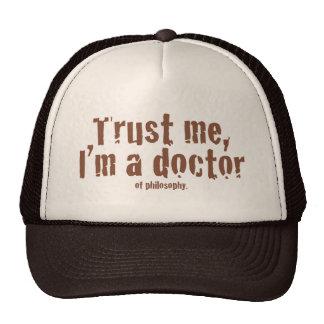 Confíeme en, yo son un doctor… gorras