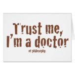 Confíeme en, yo son un doctor… tarjetas