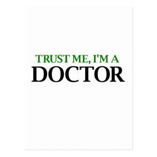 Confíeme en, yo son un doctor tarjetas postales