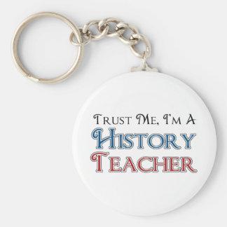 Confíeme en, yo son un profesor de la historia llavero redondo tipo pin