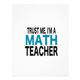 Confíeme en, yo son un profesor de matemáticas (la membrete