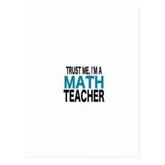 Confíeme en, yo son un profesor de matemáticas (la postal