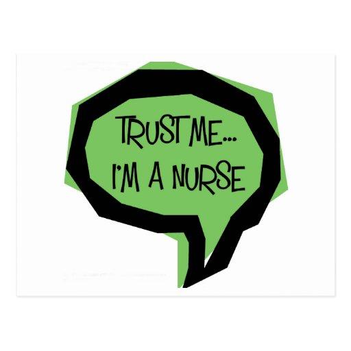 Confíeme en, yo son una enfermera postales