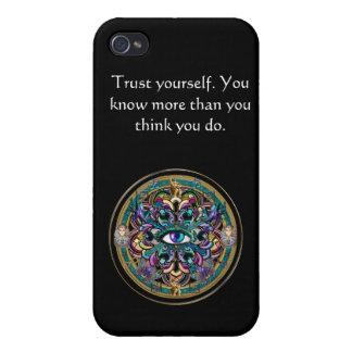 Confíese en ~ los ojos de la mandala del mundo iPhone 4/4S carcasas