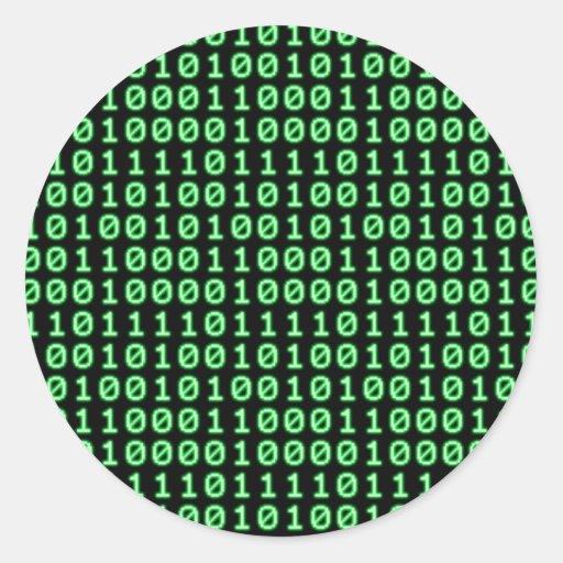 Configuración de bits pegatina redonda