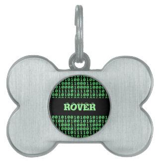 Configuración de bits placas de nombre de mascota