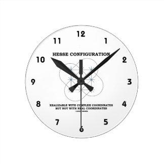 Configuración de Hesse (geometría) Reloj Redondo Mediano