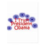 Confío en a presidente Obama Tarjetas Postales