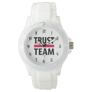 Confío en en equipo relojes