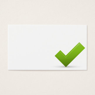 confirm-679245 GREEN CHECK MARK CORRECT SYMBOL LOG Business Card