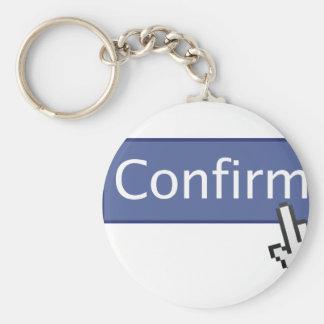 Confirm Button Keychain