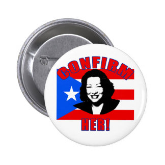 Confirm Her with Puerto Rico Flag Products 2 Inch Round Button