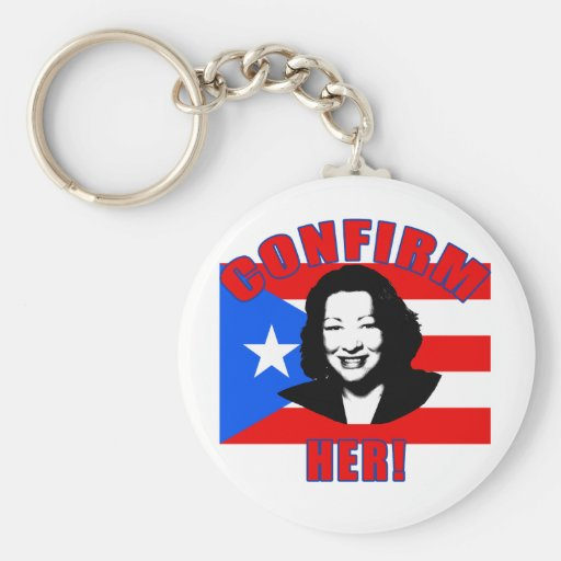 Confirm Her with Puerto Rico Flag Products Keychains