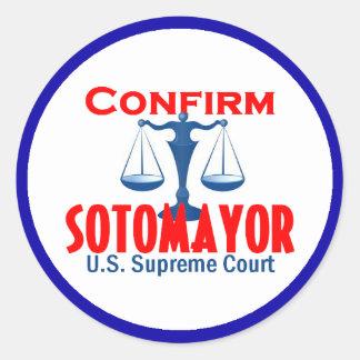Confirm Sotomayor Sticker