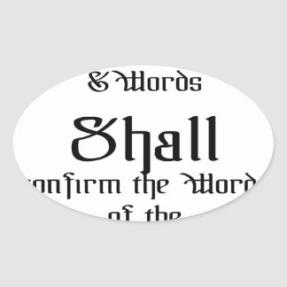 Confirm the words of the Lord Oval Sticker