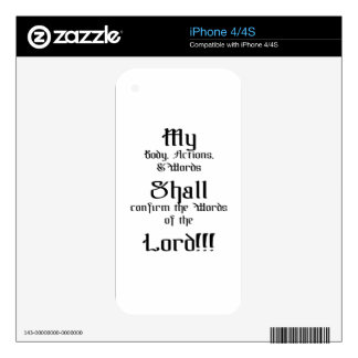 Confirm the words of the Lord Skin For iPhone 4