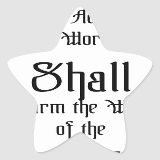 Confirm the words of the Lord Star Sticker