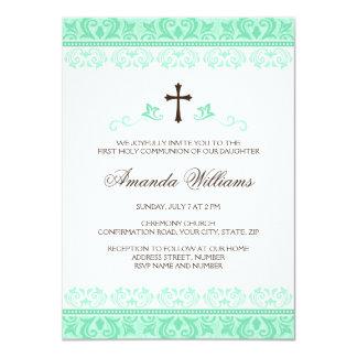 Confirmación de la comunión de los chicas del invitación 11,4 x 15,8 cm