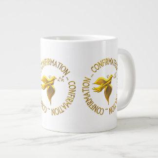 Confirmación de oro y Espíritu Santo Taza De Café Gigante