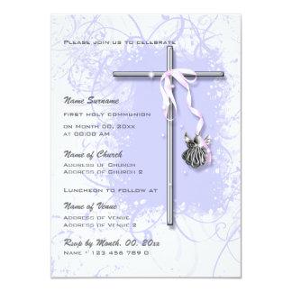 Confirmación religiosa de la comunión del bautismo invitación 11,4 x 15,8 cm