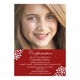 Confirmation Calligraphy Photo Invitation