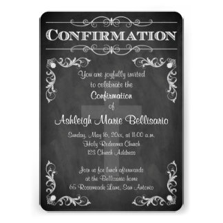 Confirmation | Chalkboard LOOK | Cross | Scrolls Custom Announcements