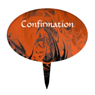 Confirmation (dancing flames) cake topper