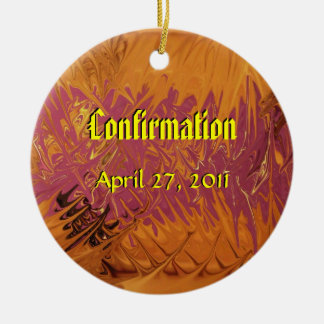Confirmation Double-Sided Ceramic Round Christmas Ornament